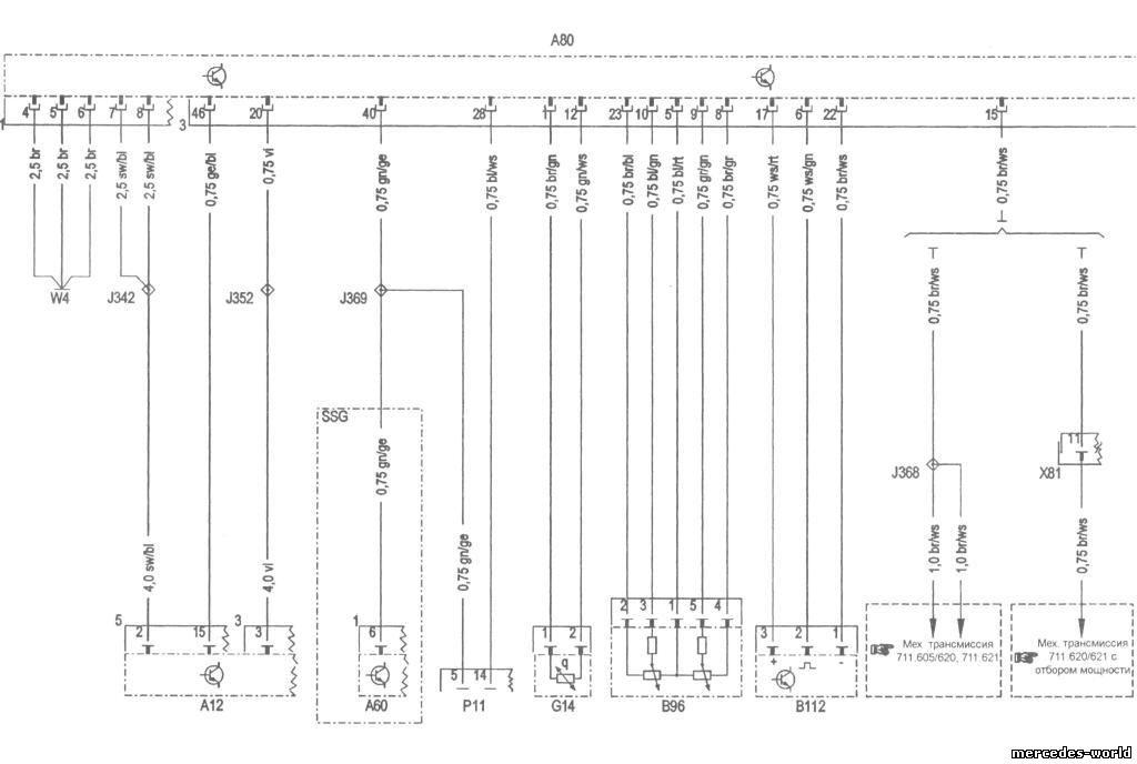 Схема электрооборудования шины